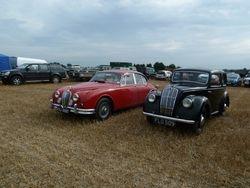 Morris 8 & Jaguar vintage cars