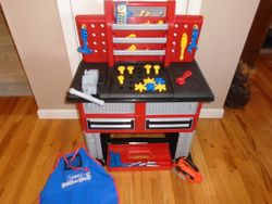 American Plastic Toys Deluxe Workbench Role Playset - $30
