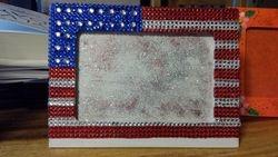 Bling American Flag Frame