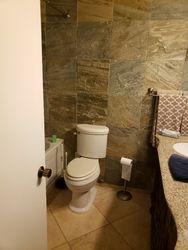 Door to bathroom removed - pocket door