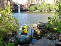 My Alpacka packraft at Eagle Falls