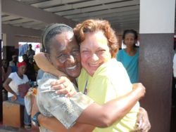 Reunion with Elizabeth Dobson at Poor Relief