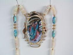 Geisha & Cranes Necklace SOLD