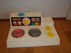 Vintage Fisher Price Fun with Food Stove Top 1984 Magic Burner Toy #91 - $25
