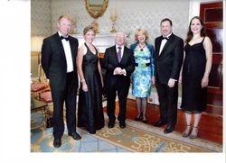 Michael John Ryan and quartet play for Irish President Michael D Higgins in Aras an Uachtarain