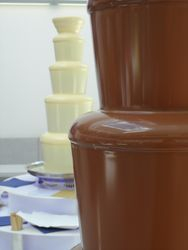 Milk and white chocolate fountain package