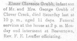Grubb, Elmer 1908