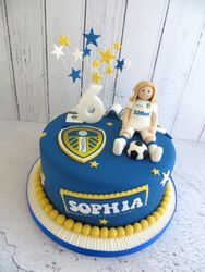 Leeds United Football Cake