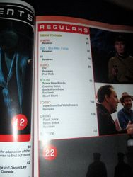 Section of Table of Contents with Regulars in Starburst Magazine #469: Birds of Prey Collectors? Edition
