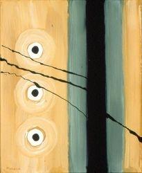 Black & Tan #76, Acrylic, 16x20, Original Sold