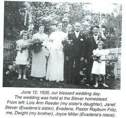 H. Clair Colbert and Evadene Stever Wedding