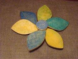Flower Pinwheel Pin