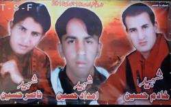 Shaheed Khadim Hussain, Shaheed Nasir Ali and Shaheed Imdad Hussain