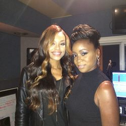 Demetria McKinney and Michelle at Demetria McKinney's Surprise DEMETRIAN Birthday/Meet & Greet