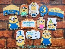 Birthday Cookies Minions Theme