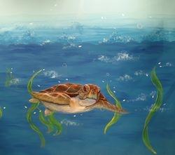 UNDERWATER  tony the turtle