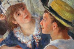 Renoir, Luncheon of the Boating Party, detail
