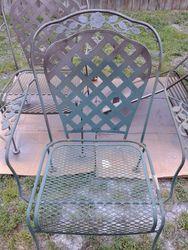 Outside Patio Chairs Before Restored