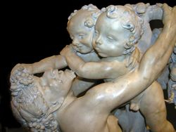 Bernini, Faun Teased by Putti, detail