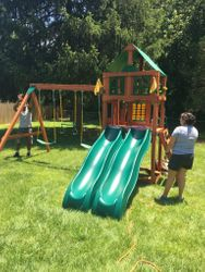 gorilla playset playmaker swing set assembly in fairfax Virginia