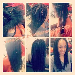 Instant Dreads over Permed Hair