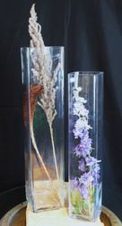 Tall Square Cylinder Vases