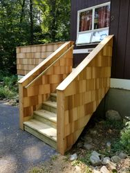 12' X 14' Pressuer Treated Deck With Cedar Shake Walls - 2