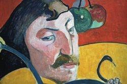 Gauguin, Self-Portrait, detail, Washington, NGA