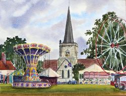 Getting ready for the fair, Brockham