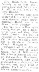 Beaver, Sarah Garner 1963 - 2nd Obit