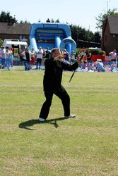 Dave sword waving