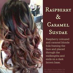 Raspberry & Caramel Sundae