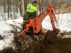 N5IEP burying the power line conduit