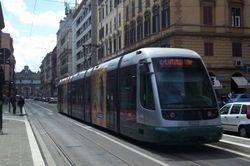 Fiat II tram #9222 approaching Flaminio Piazza del Popolo.