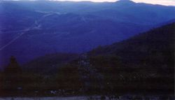 1986 Alpine Rally @ Perkins Flat -  view towards Tumut from above