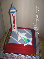 CAKE 25A1 -Caribbean Airlines Plane Cake