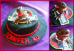 Jurasic park birthday cake