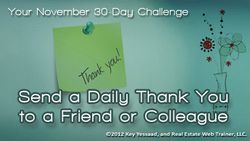 Send Thank You Notes for 30 Days