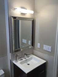 Vanity with Mirror and Light