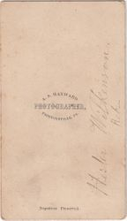 A. S. Hayward, photographer, of Proctorsville, Vermont - back