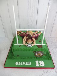 18th Birthday Rugby Cake