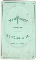 Rawlins & Co., photographer, Wooster, OH back