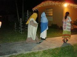 Josepha nd Mary visit the neighbors
