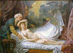 Greuze, Jupiter and Aegina, 1767, Met