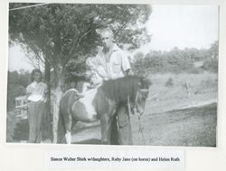 Helen, Ruby, and Simon Walter Shirk
