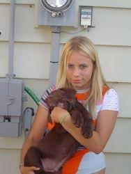 Harley is a big boy puppy, 2004