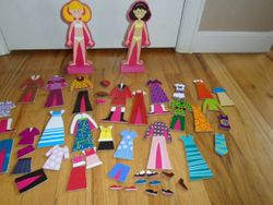 Melissa & Doug Abby & Emma Deluxe Magnetic Dress-Up Set - $10