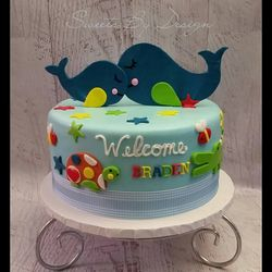 Whale Shower Cake