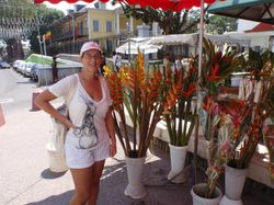 A flower stall in Pointe a Pitre