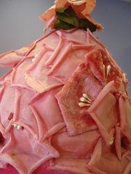 Vintage Pink Velvet Petals Close Up